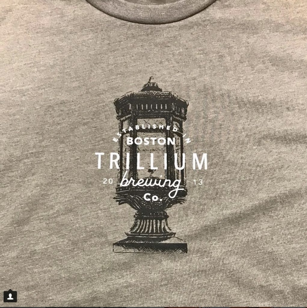 custom t-shirt design for Trillium Brewing Co